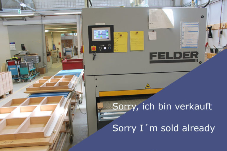 Read more about the article 4546 FELDER FW 1102 perform Breitbandschleifmaschine